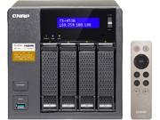 QNAP TS-453A-4G-43R-US 12TB (4 x 3TB) Professional-grade NAS. Intel Braswell Quad-core 1.6 GHz CPU with Media Transcoding