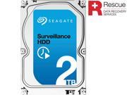 "Seagate Surveillance HDD ST2000VX005 2TB 64MB Cache SATA 6.0Gb/s 3.5"" Internal Hard Drive + Rescue Data Recoery Services"