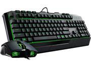 Image of Devastator II LED Gaming Keyboard and Mouse Combo Bundle with Green LED Edition by Cooler Master