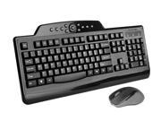 Kensington Pro Fit Wireless Media Desktop Set K72408US Black RF Wireless Keyboard and Mouse
