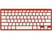 Rocksoul BK-101001RW Red Bluetooth Wireless Slim Keyboard for Apple  Devices
