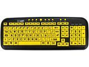 Ergoguys CD1060 Yellow USB Wired Standard Large Print Spanish Latin American Keyboard