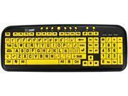 Ergoguys CD1060 Yellow USB Wired Standard Large Print Spanish Latin American Keyboard