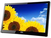 "AOC e1659Fwu Black 16"" 8ms USB3.0 Powered WLED Backlit Widescreen LCD Monitor 200 cd/m2 500:1 w/carry case"