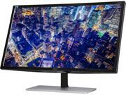 AOC U2879VF Featured 28'' 4K UHD 2160p LED-Backlit LCD Monitor, Black/Silver