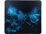 ENHANCE GX-MP5 Extended Mouse Pad for Gaming with Hard ABS Plastic Optimized Tracking Surface, Non-Slip Rubber, Black and Blue Design
