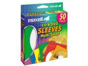 maxell 190134 Multi-Color CD & DVD Sleeve - 50P
