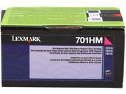 LEXMARK 701HM (70C1HM0) High Yield Return Program Toner Cartridge Magenta