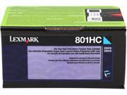 LEXMARK 801HC (80C1HC0); Return Program 801HC High Yield Return Program Toner Cyan