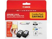 Canon Pg-210Xl / Cl-211Xl With Photo Paper 50 Sheets - For Mx330, Mp240, Mp480,