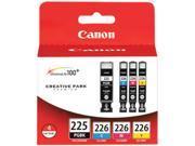 Canon PGI-225 black, CLI-226CMY 4-pack Ink Tank Value Pack&#59; Black, Cyan, Magenta, Yellow (4530B008AA)