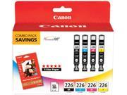 Canon CLI-226CMYK (4546B007) 4 Color Pack printer ink cartridge