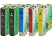 Green Project Compatible Ink Cartridge Replacement for Epson (2pc. T1251 , 1pc. T1252 , 1pc. T1253 , 1pc. T1254) 5 Pack