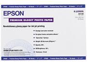 "Epson S041290 Premium Photo Paper Ledger/Tabloid - 11"" x 17""  - 1 Each - White, Blue"