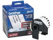 "Brother DK2113 Continuous Film Label Tape, 2-3/7"" x 50ft Roll, Clear"