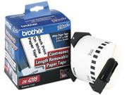 "Brother DK4205 Removable Paper Label Tape, 2.4"" x 100ft Roll, White"