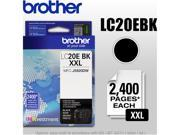 Brother LC20E BK XXL (LC20EBK) Super High Yield Ink Cartridge (2400 Page Yield); Black