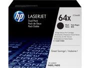 HP 64X High Yield LaserJet Toner Cartridge - Dual