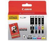 Canon PGI-250/CLI-251 Ink tank&#59; Black, Cyan, Magenta, Yellow (6497B004)