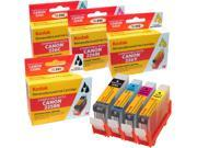 KODAK Remanufactured Ink Cartridge Combo Pack Compatible With Canon PGI-225 / CLI-226 (4530B008) High-Yield Black, Cyan, Yellow, Magenta 9SIA1YH4199613