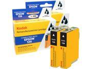 Kodak remanufactured Epson 126 combo inkjet pack, 2 black, compatible with Epson Stylus NX330 / 430, Workforce 60 / 435 / 520 / 545 / 630 / 633 / 635 / 645 / 840 / 845 / WF-7010 / WF-7510 / WF-7520 /