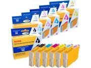 Kodak remanufactured Epson 98/99 combo inkjet pack, B/LC / LM / C / M / Y, compatible with Artisan 700 / 710 / 800 / 809
