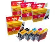 KODAK Remanufactured Ink Cartridge Combo Pack Compatible With Canon 5 / 8 / PGI-5BK / CLI-8 (0628B027) High-Yield Black, Cyan, Yellow, Magenta N82E16828153226