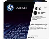 HP 81X High Yield LaserJet Toner Cartridge - Black