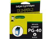 Ink for Dummies DC-PG40BK Black Ink Cartridge Replaces Canon PG-40 (PG0615B002)