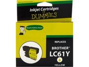 Ink for Dummies DB-LC61Y Yellow Ink Cartridge Replaces Brother LC-61Y