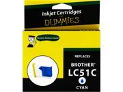 Ink for Dummies DB-LC51C Cyan Ink Cartridge Replaces Brother LC-51C