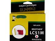 Ink for Dummies DB-LC51M Magenta Ink Cartridge Replaces Brother LC-51M