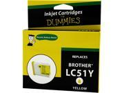 Ink for Dummies DB-LC51Y Yellow Ink Cartridge Replaces Brother LC-51Y