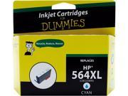 Ink for Dummies DH-564XLC(CB323WN) Cyan Ink Cartridge Replaces HP 564XL (CN685WN)