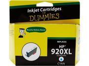 Ink for Dummies DH-920XLC(CD972AN) Cyan Ink Cartridge Replaces HP 920XL (CD972AN)