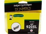 Ink for Dummies DH-920XLM(CD973AN) Magenta Ink Cartridge Replaces HP 920XL (CD973AN)