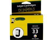 Ink for Dummies DL-18C0033(33) 3 Colors Ink Cartridge Replaces Lexmark 18N0033(33)