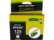Ink for Dummies DE-T1254 Yellow Ink Cartridge Replaces Epson T1254