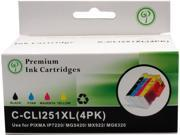 Green Project C-CLI251XL(4PK) Black and Colors Compatible Canon CLI251XL Ink Cartridge 4 Pack