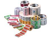 "Zebra 10015341-EA  Consumables Z-Select 4000d Paper Label Direct Thermal 2.25"" X 1.25"" 1"" Core 5"" Od 2100 Labels Per Roll, 1 Roll"