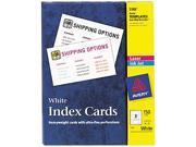Avery 5388 Laser/Inkjet Unruled Index Cards, 3 x 5, White, 150/Box