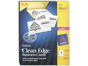 Avery 5870 Clean Edge Laser Business Cards, White, 2 x 3 1/2, 10/Sheet, 2000/Box