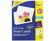 Note Cards for Inkjet Printers 4 1 4 x 5 1 2 Matte White 60 Pack w Envelopes