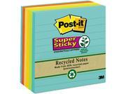 Post-it Notes Super Sticky 675-6SSNRP Farmer's Market Super Sticky Notes, Lined, 4 x 4, 6 90-Sheet Pads/Pack