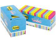 Post-it Notes 654-18BRCP Notes Cabinet Pack, 3 x 3, Ast. Bright Colors, 100 Sheets/Pad, 18/Pack