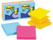 Post-it Pop-up Notes R-330-AU Ultra Pop-Up Refills, 3 x 3, Three Ultra Colors, 6 100-Sheet Pads/Pack