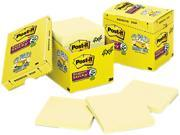 Post-it Notes Super Sticky 675-12SSCP Super Sticky Notes, 4 x 4, Lined, Canary Yellow, 12 90-Sheet Pads/Pack