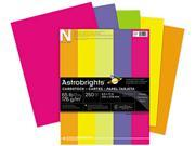 Wausau Paper 21004 Astrobrights Colored Card Stock, 65 lbs., 8-1/2 x 11, Assorted, 250 Sheets