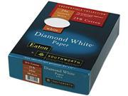 Southworth                               25% Cotton Diamond White Paper, 24 lbs., 8-1/2 x 11, 500/Box