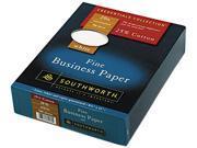 Southworth                               25% Cotton Business Paper, 20 lbs., 8-1/2 x 11, White, 500/Box